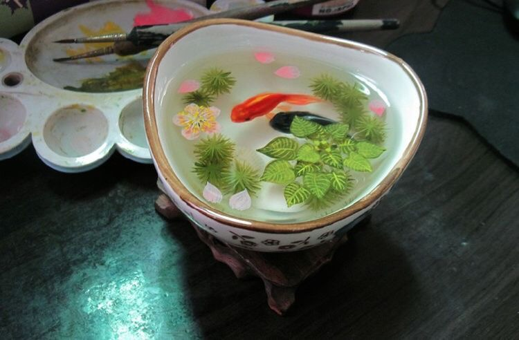 3D Koi fish artwork resin painting
