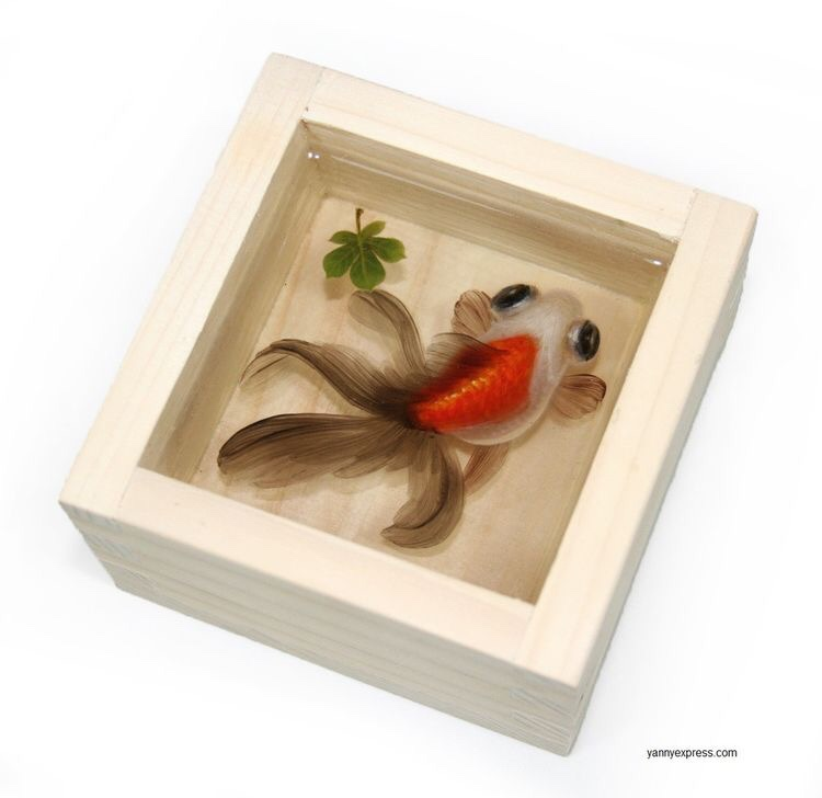 3-D Painting of Goldfish