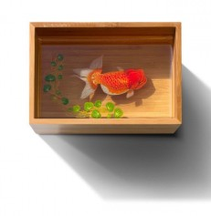 3-D Painting of Goldfish Resin- Cá vàng 3D